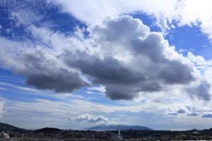 夏休みの青空と雲