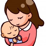 抱っこで眠る赤ちゃん