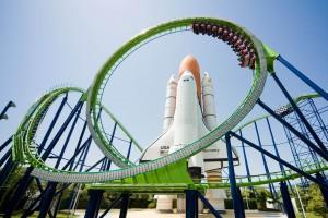 スペースワールドのスペースシャトルとジェットコースタータイタン