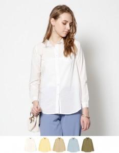 運動会ファッション40代のシンプルシャツ