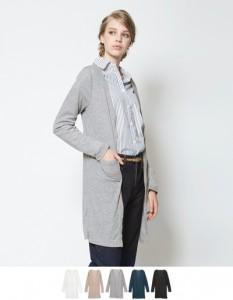 運動会ファッション40代の薄手ロングカーディガン