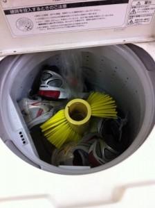 洗濯機に入れた靴