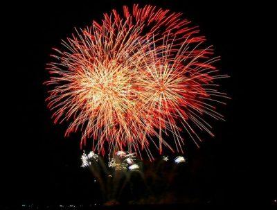 郡山カルチャーパークからの花火