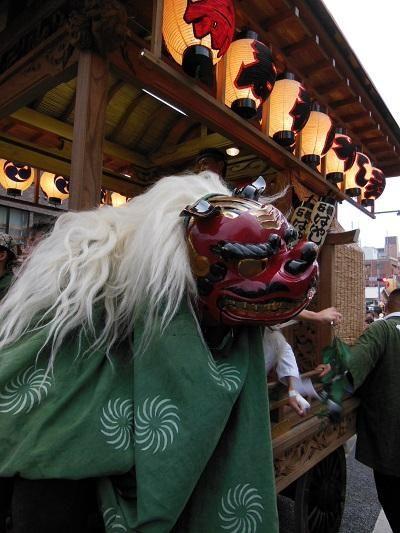 上溝夏祭り 獅子舞
