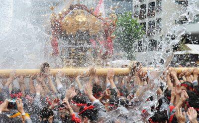 深川八幡祭り 水かけ