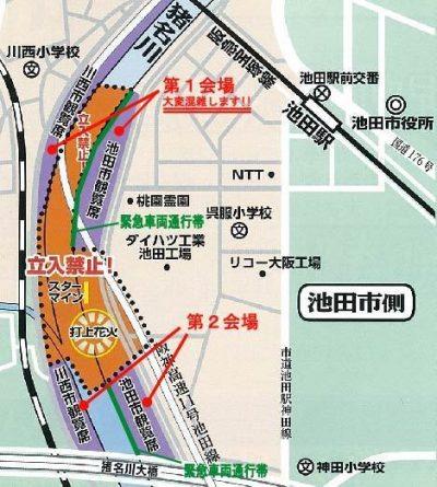 猪名川花火大会 地図