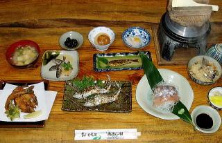 あまご村の料理