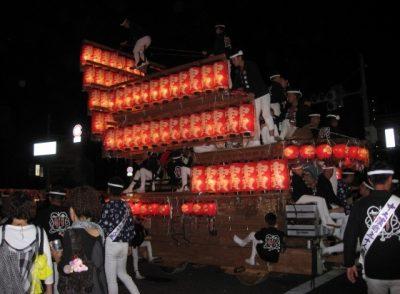 岸和田だんじり祭り 夜