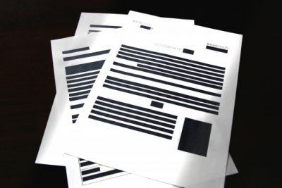 個人情報を消した書類