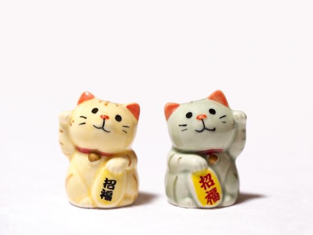 招き猫が2匹