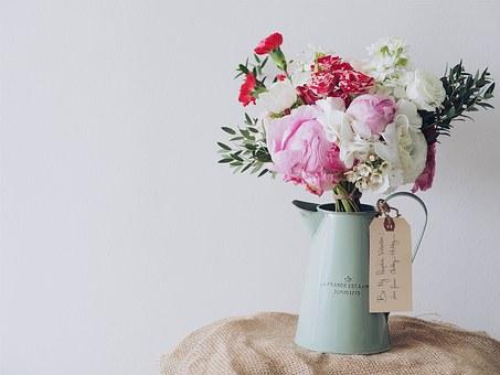花瓶に入った花束