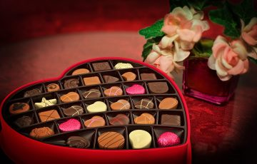 バレンタインにぴったりのハートのチョコレート
